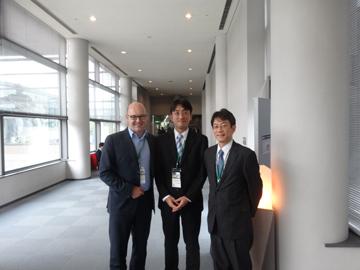 2015年名古屋で開催されたリウマチ学会にてSchett教授と田中教授と